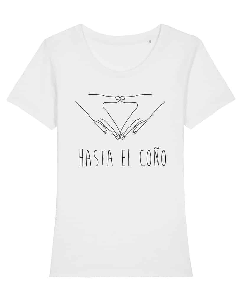 Camisetas-feministas-hasta-el-coño-mujer-blanco-frente
