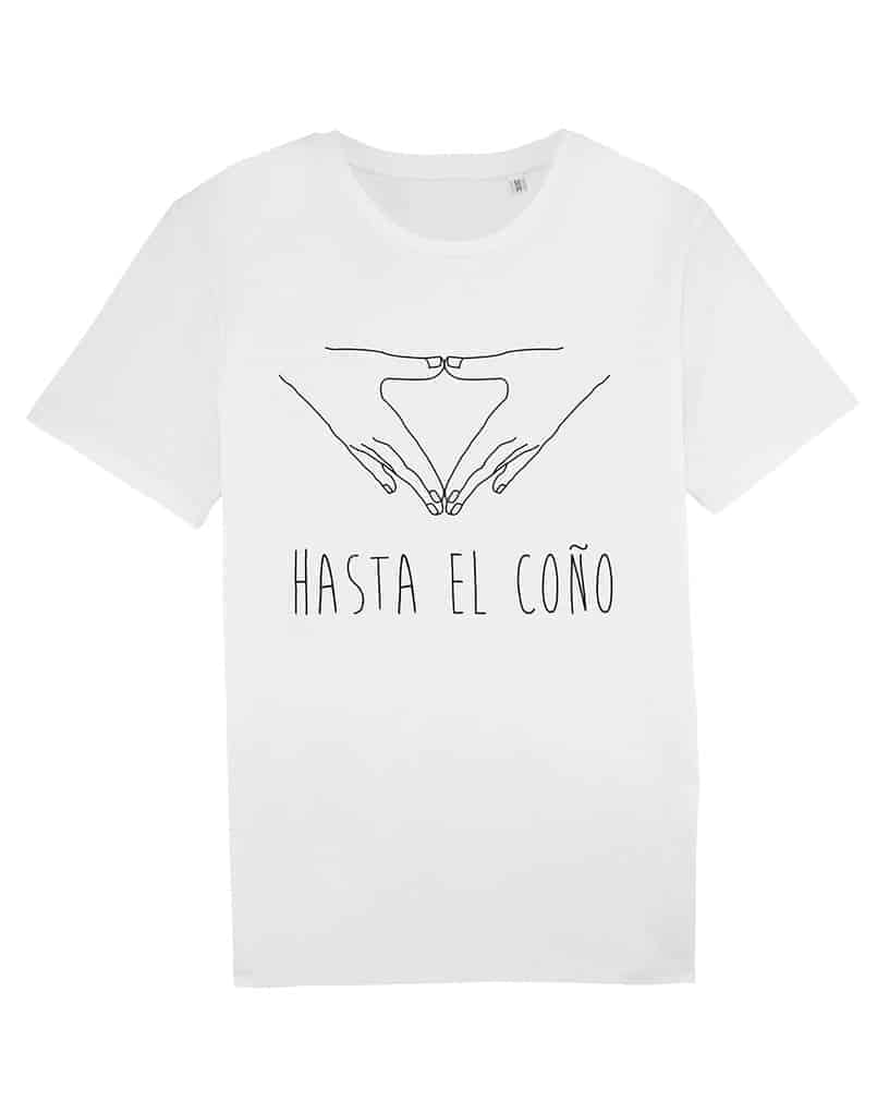 Camisetas-feministas-hasta-el-coño-unisex-blanco-frente