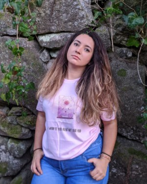 Camisetas-veganas-i-wanna-be-your-friend-unisex-rosa-frente