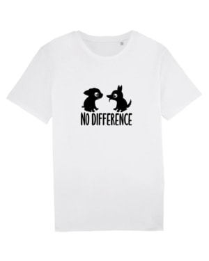 Camisetas-veganas-no-difference-unisex-blanco-frente