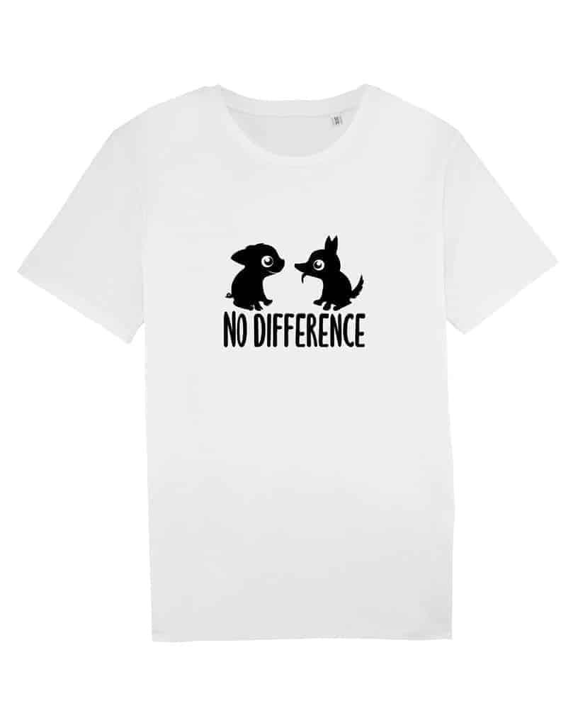Camisetas-veganas-no-difference-unisex-blanco-frente