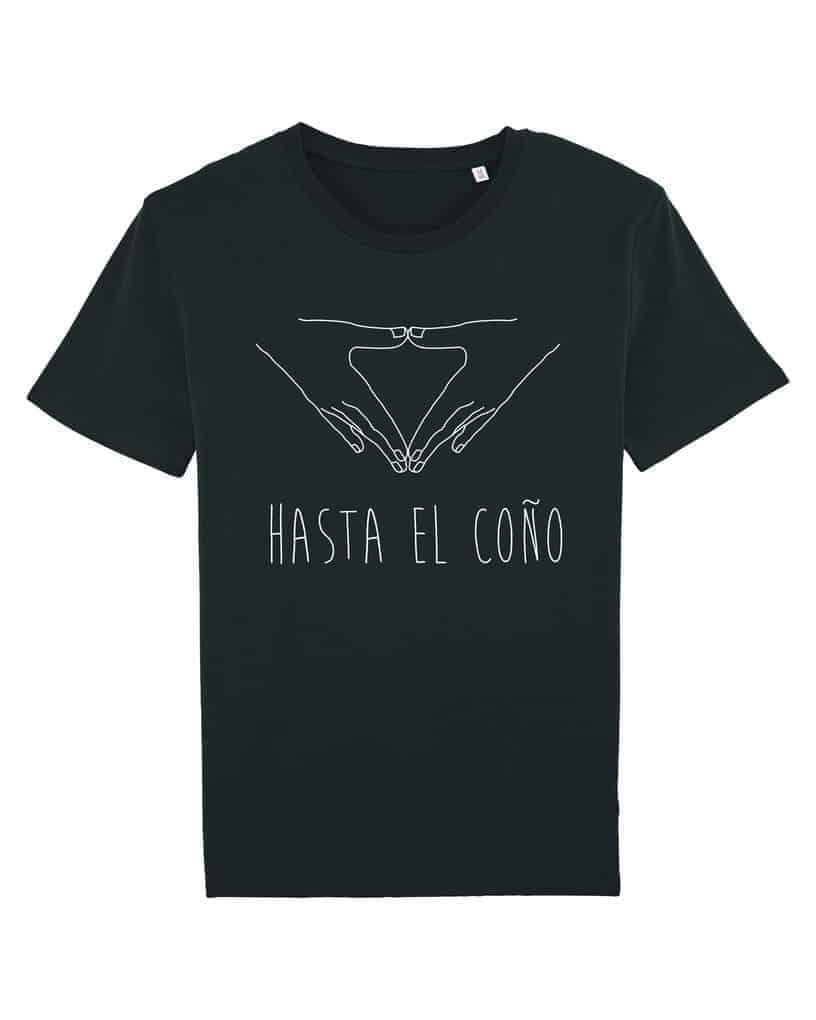 Camisetas-feministas-hasta-el-coño-mujer-negro-frente