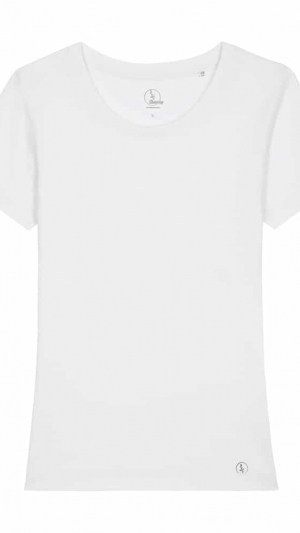 camiseta-algodon-organico-basica-blanca-mujer-frente