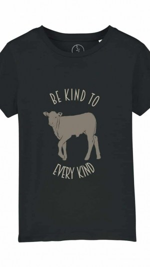 Camiseta-infantil-be-kind-to-to-every-kind-negro