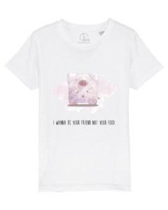 Camiseta-infantil-I-wanna-be-your-friend