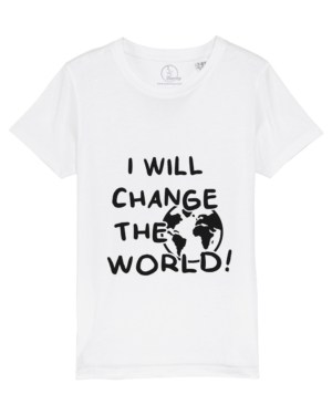 Camiseta-infantil-niño-niña-will-change-the-world-blanco
