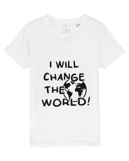 Camiseta-infantil-niño-niña-will-change-the-world-blanco