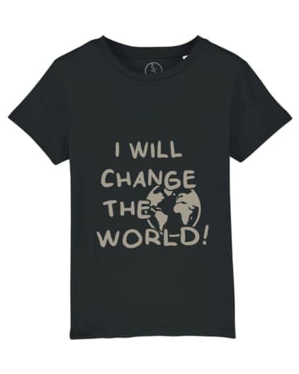 Camiseta-infantil-niño-niña-will-change-the-world-negro