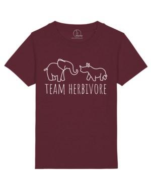 Camiseta-infantil-niño-team-herbivore-granate