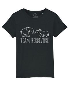 Camiseta-infantil-niño-team-herbivore-negro