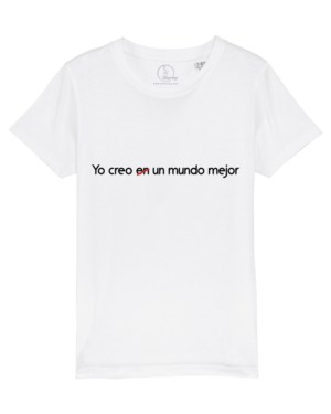 Camiseta-infantil-niño-yo-creo-en-un-mundo-mejor-blanco