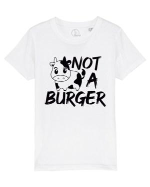 camiseta-infantil-niños-not-a-burger-blanco