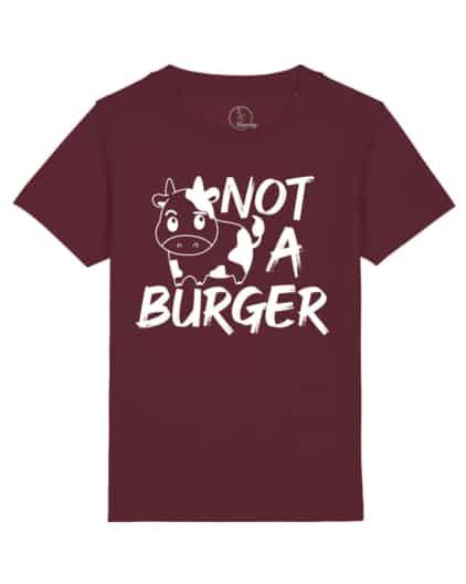 camiseta-infantil-niños-not-a-burger-granate