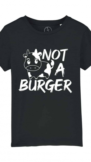 camiseta-infantil-niños-not-a-burger-negro