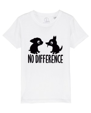 Camiseta-infantil-no-difference-blanco