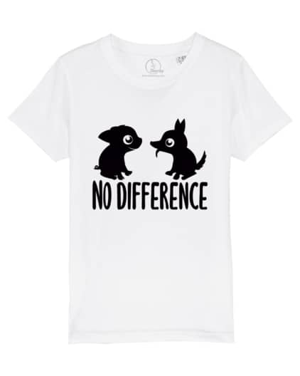 Camiseta-infantil-no-difference-blanco