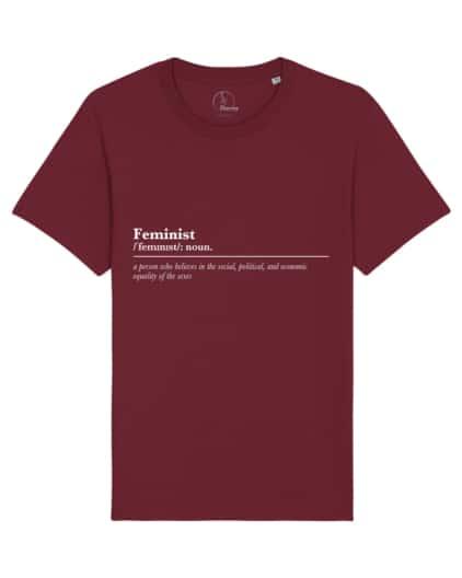 camisetas-feministas-feminist-noun-unisex-granate