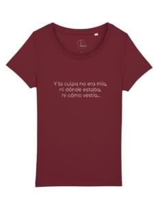 camisetas-feministas-y-la-culpa-no-era-mia-mujer-granate