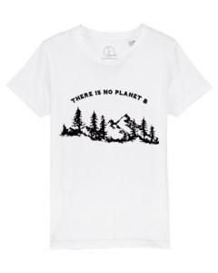 Camisetas-niños-there-is-no-planet-b-blanco