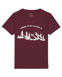 Camisetas-niños-there-is-no-planet-b-granate