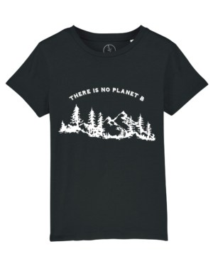 Camisetas-niños-there-is-no-planet-b-negro