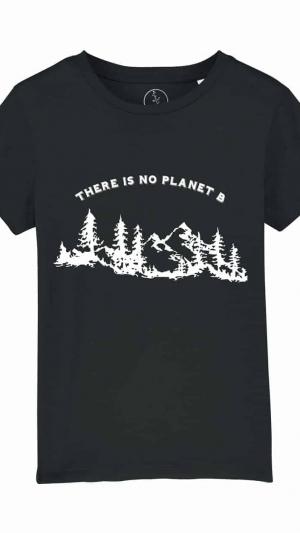 Camisetas-niños-there-is-no-planet-b-negro
