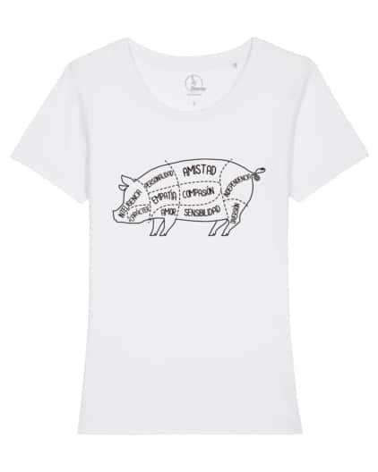 camisetas-veganas-cerdo-mujer-blanco