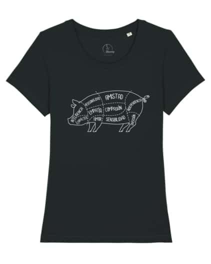 camisetas-veganas-cerdo-mujer-negro