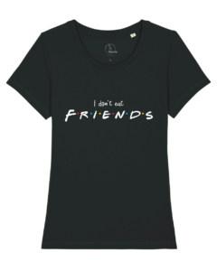 camisetas-veganas-i-dont-eat-friends-mujer-negro