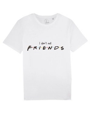 camisetas-veganas-i-dont-eat-friends-unisex-blanca