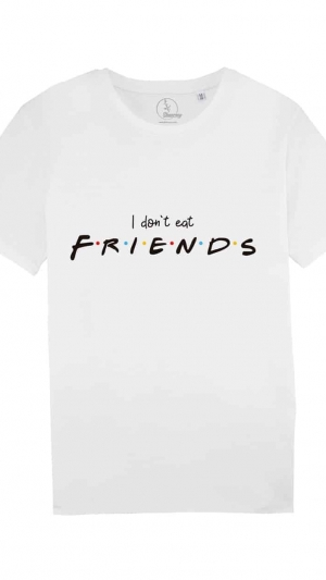 camisetas-veganas-i-dont-eat-friends-unisex-blanca