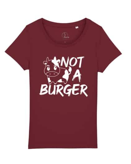 camisetas-veganas-not-a-burger-mujer-granate