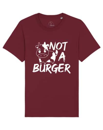 camisetas-veganas-not-a-burger-unisex-granate