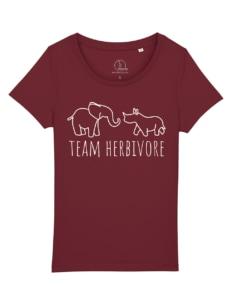 camisetas-veganas-team-herbivore-mujer-granate