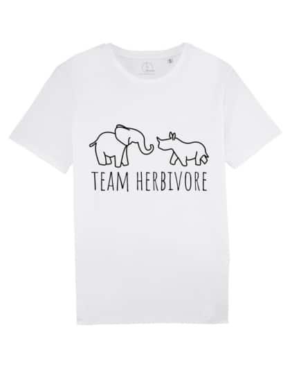 camisetas-veganas-team-herbivore-unisex-blanco
