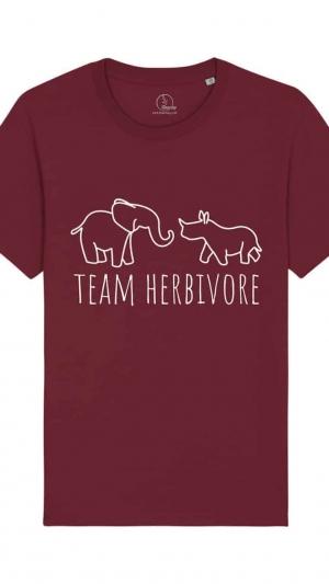 camisetas-veganas-team-herbivore-unisex-granate