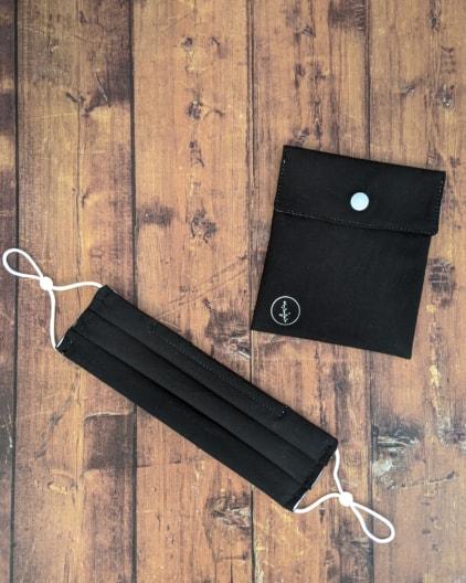 Mascarilla reutilizable algodón orgánico negro