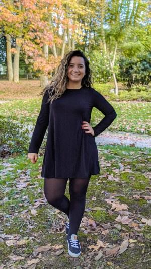 moda-sostenible-vestido-evase-negro-bambu-ecologico