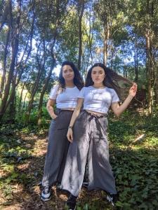 Pantalon culotte gris algodon organico Las dos